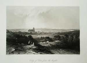 Ulm-Bayern-echter-alter-Stahlstich-1844