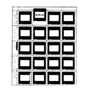 50-x-SLIDE-MOUNT-CLEAR-SHEET-5x5cm-35mm-135-Film-Filing-Archival-Storage-Album-i