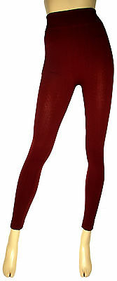 Winter Warm Cable Knit Stretch Thick Ankle Length Fleece Leggings Jeggings Pants