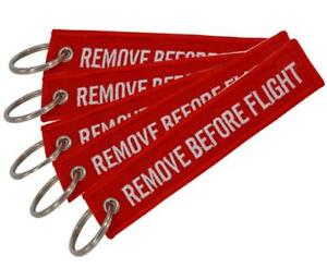 Image is loading Fabric-Key-Ring-Remove-Before-Flight-Keychain-Pilot- 52c0b5742a