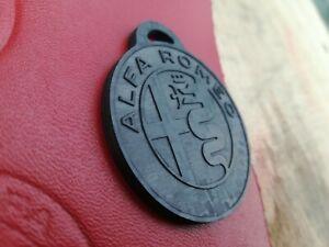 NEW Logo 40mm Alfa Romeo inciso su carbonio per portachiavi Keychains Giulietta