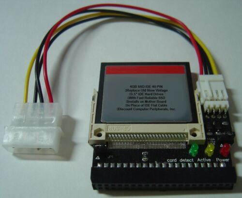 """4GB DOM SSD Replace Vintage 3.5/"""" IDE Drives with this 40 PIN IDE SSD Card"""