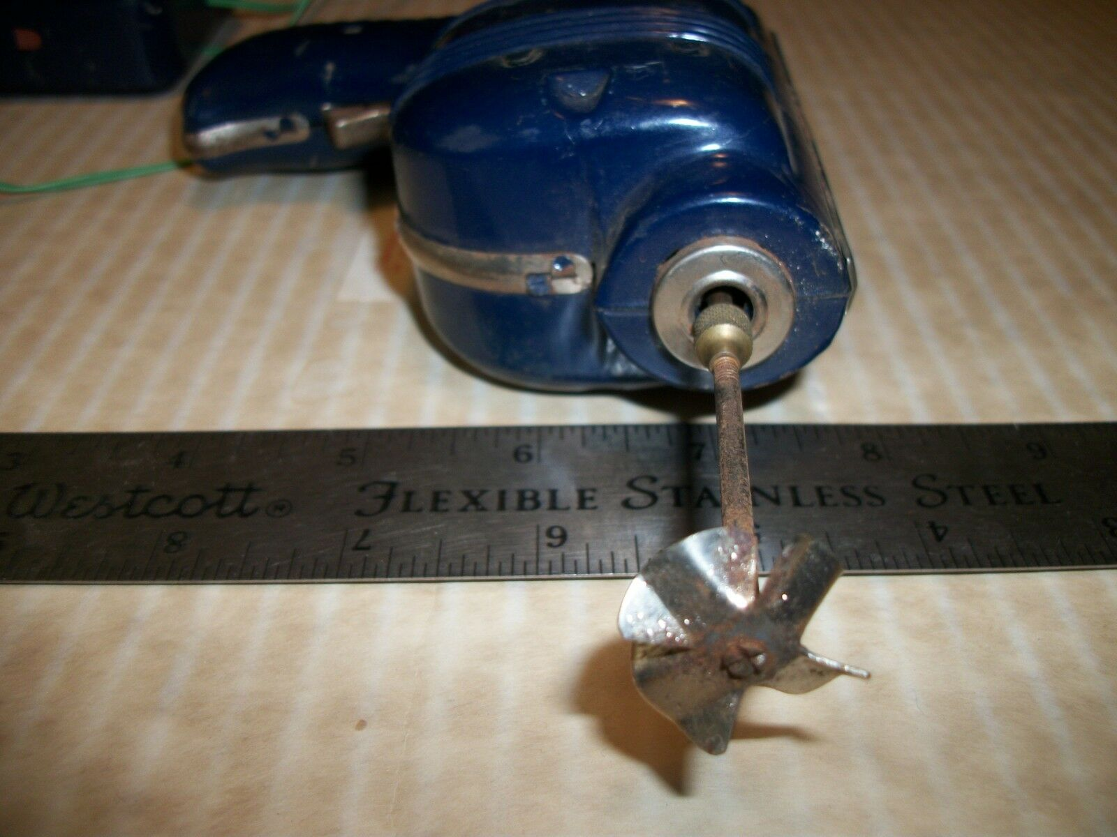 Vintage Mar Mar Mar Toys Battery Operated drill Tin Toy 1b5364