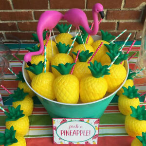 Plastic-Hawaii-Tropical-Pineapple-Coconut-Drink-Cups-Party-Cups-Decoration