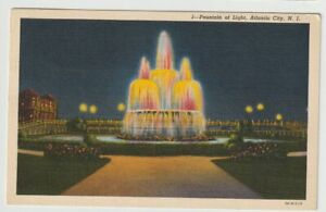 1952-Postmarked-Postcard-Fountain-of-Light-Atlantic-City-New-Jersey