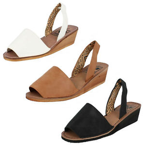 Ladies Down To Earth Sling Back Wedge Sandals