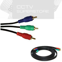 6FT Component Video Cable 3 RCA RGB HDTV DVD VCR YPbPr Gold Plated 6'