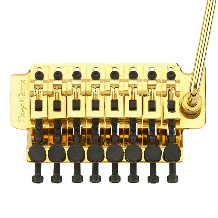 Auténtico kit de trémolo Floyd rosado 8 8 8 Cuerdas-oro 996c35
