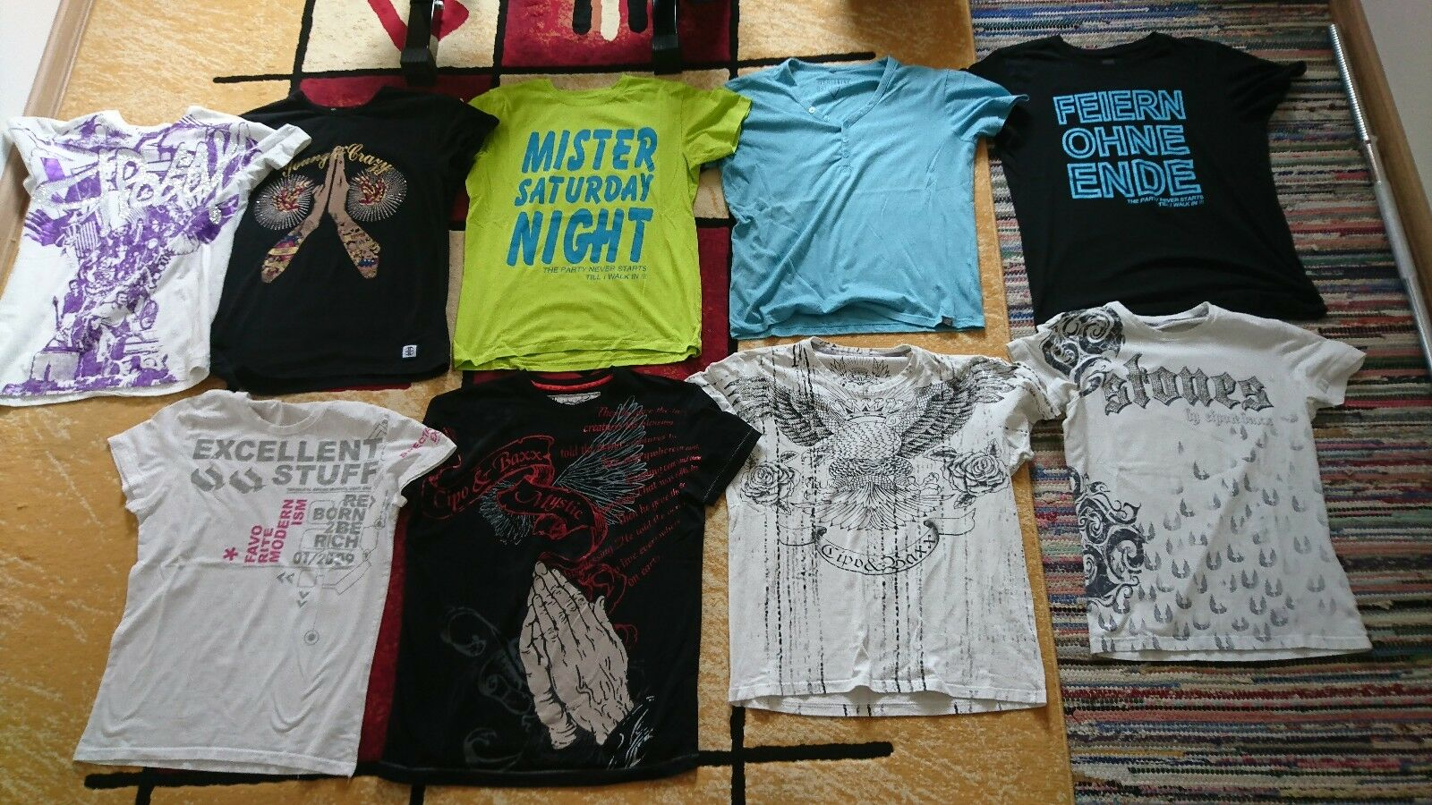 9x T-Shirt Größe M L Cipo & Baxx