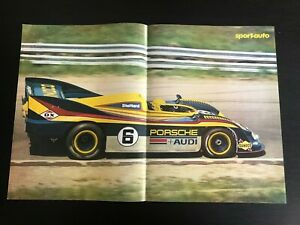 PORSCHE-AUDI-917-DU-MANS-RACING-CAR-POSTER-FROM-FRENCH-MAGAZINE-AFFICHE-M12