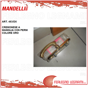 MANDELLI CREMONESE TO HANDLE WITH PINS gold COLOR ITEM 483 RIGHT
