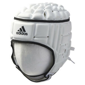 7843b8dc91a Image is loading Adidas-Rugby-Scrum-Headguard-White-Black-F41034