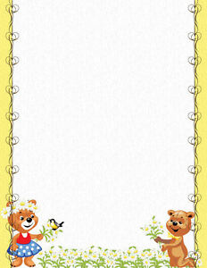 Buzzing Bees With Flowers Stationery Printer Paper 26 Sheets