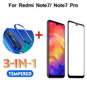 3in1 para Xiaomi Redmi 7 caso de Lente de Cámara Metal Note Anillo Cubierta + Protector de pantalla