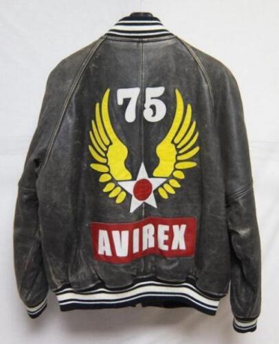 AVIREX All Leather varsity jacket , letterman jack