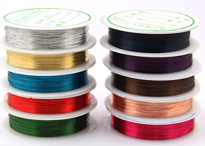 Lot Soft Colorful Copper Wire//Wire line for DIY Jewelry Making 0.3-0.8mm