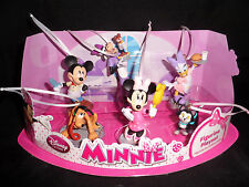 Disney Minnie Mickey Mouse Clubhouse Christmas Ornaments 6pc Set Daisy Duck NEW