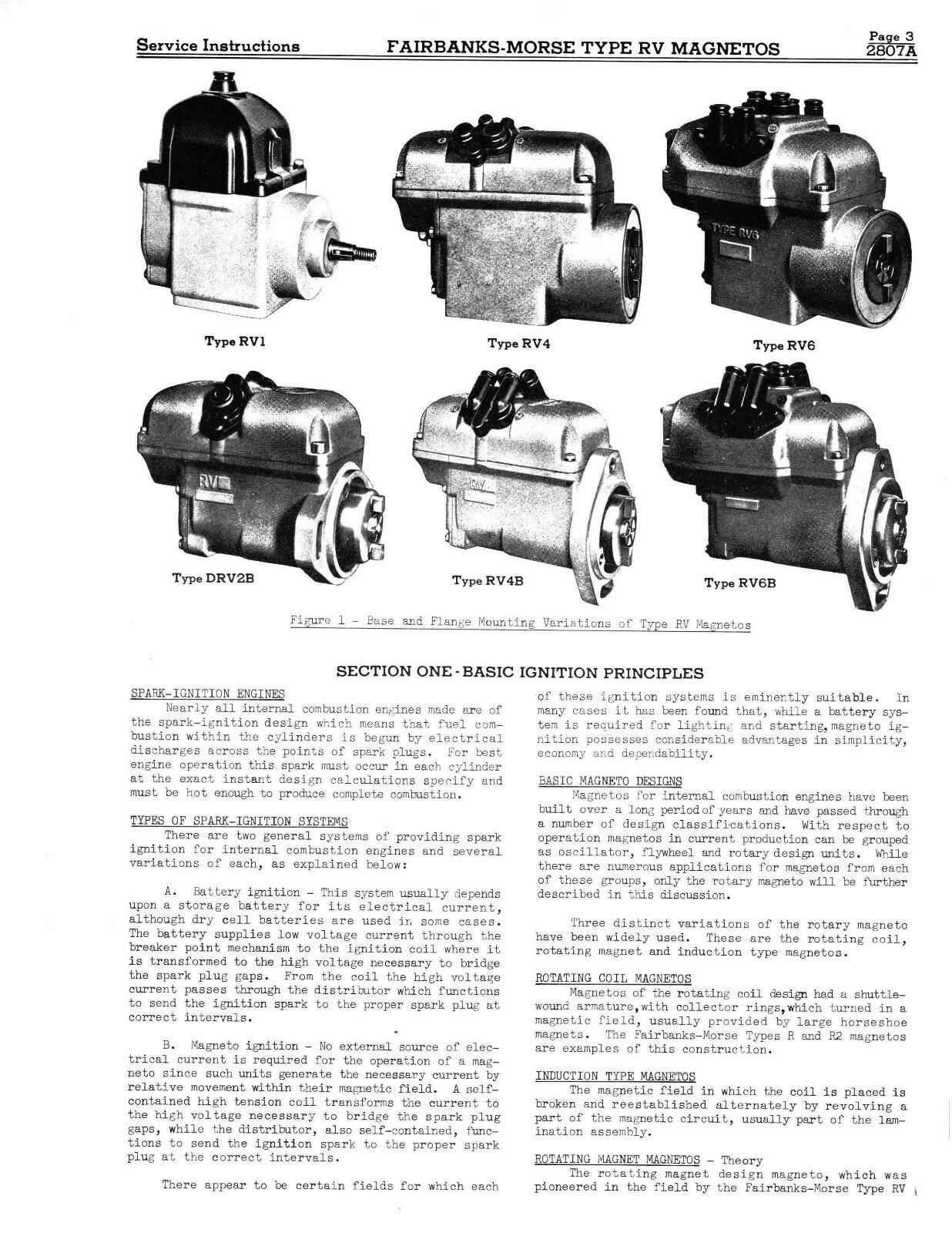 Fairbanks Morse Magneto Service & Parts Manual for RV Series Mags *434 |  eBay