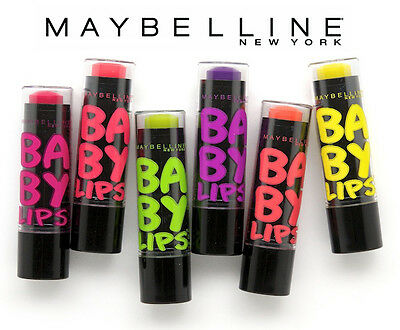 [MAYBELLINE] Baby Lips Electro Pop Neon Colored Tinted Lip Balm 8HR Moisture NEW