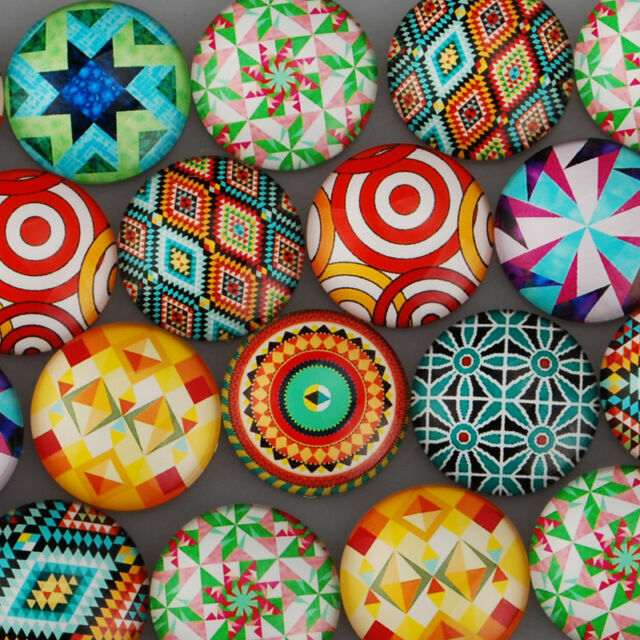 25mm Round Flatback Cartoon Photo Glass Cabochons Dome Cameo Jewelry DIY 20Pcs