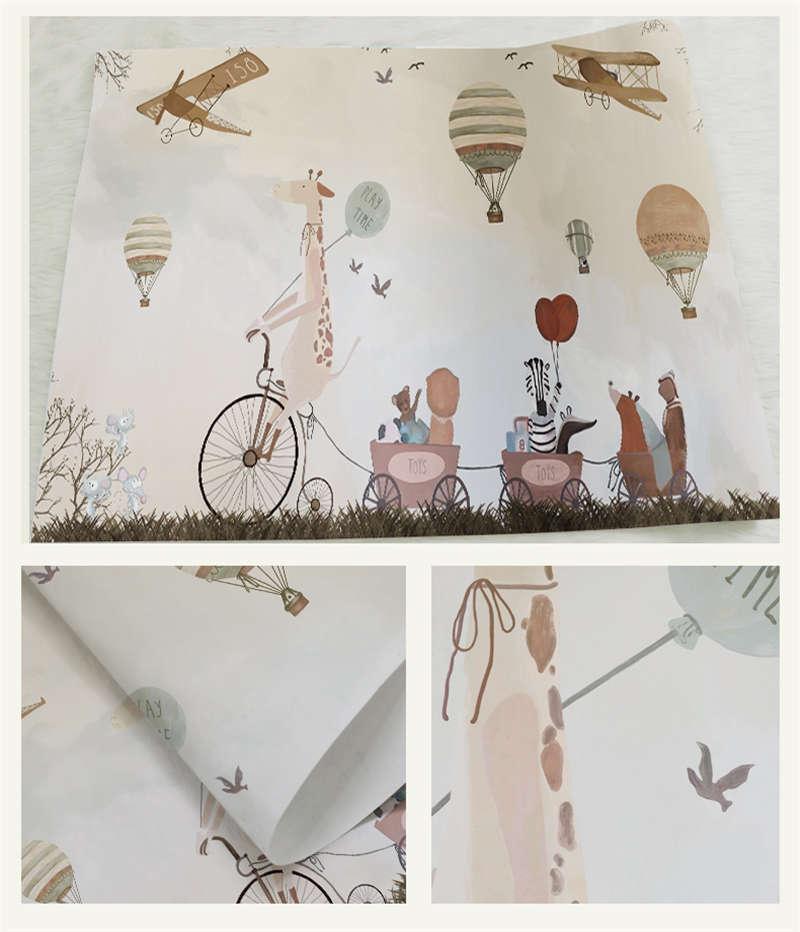 Hand-drawn Cartoon 3D Full Wall Mural Photo Wallpaper Printing Home Kids Decor