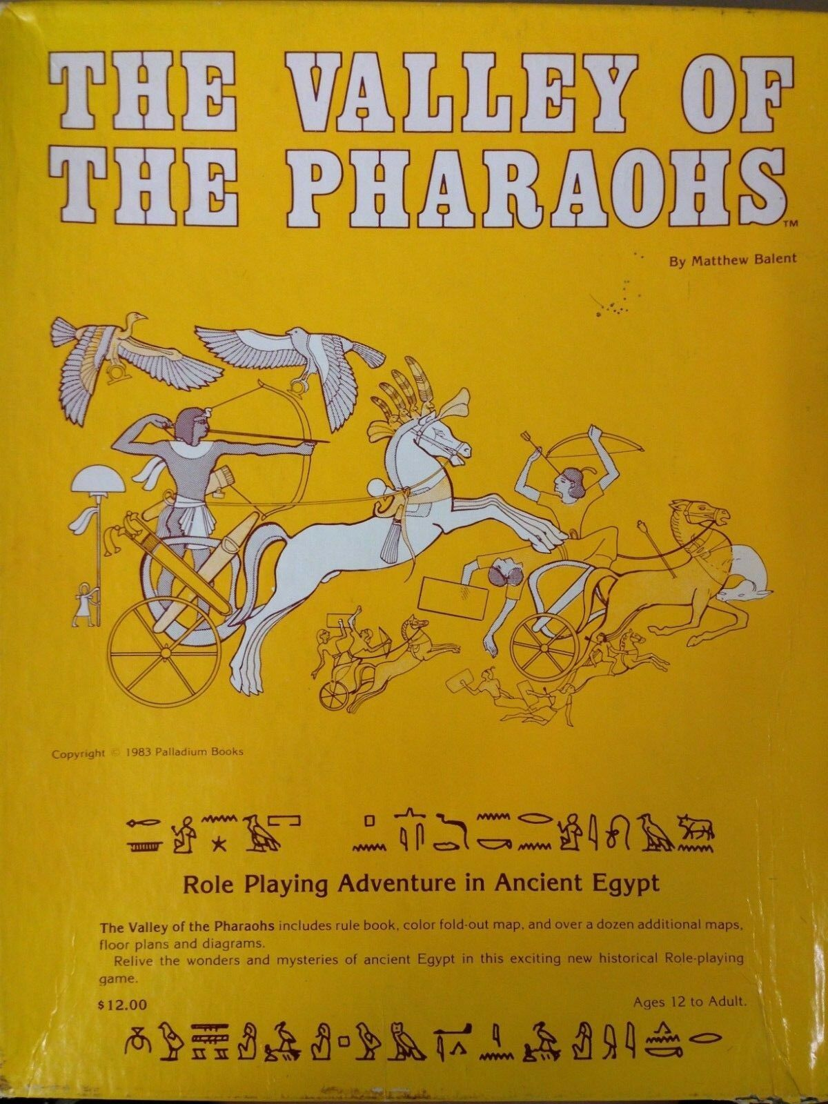 The Valley of The Pharaohs Role Playing  Adventure in Egypt Game 1983