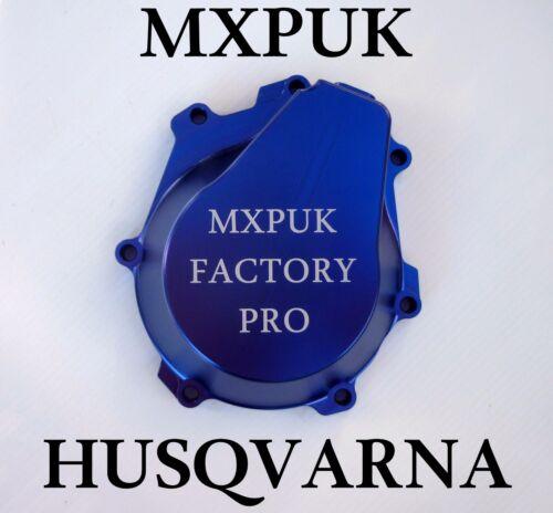 648 HUSQVARNA 2018 STATOR COVER IN BLUE MXPUK BILLET ALUMINIUM FC 2017 2016