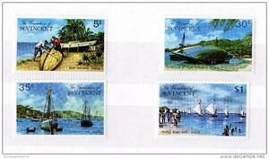 St-Vincent-amp-Grenadines-1974-Boat-Set-to-1-Mint-MNH-X3272