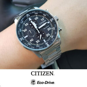 new arrival cd520 2edeb Details about Citizen Eco-Drive CA0690-88E Aviator Chronograph Mens Watch  44mm