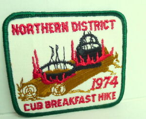 Northern-District-Cub-Breakfast-Hike-Patch-1974-BSA-Boy-Scouts-of-America
