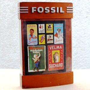 FOSSIL-Alte-Reklame-Tafel-USA-Texas-80er-Billboard-Litfasssaeule-Holz-KURIOS-RAR