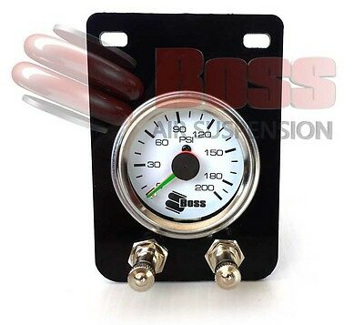 SGPCOMP-S BOSS Air Pressure Gauge Twin Needle with 2 x Schrader Inflation Valves