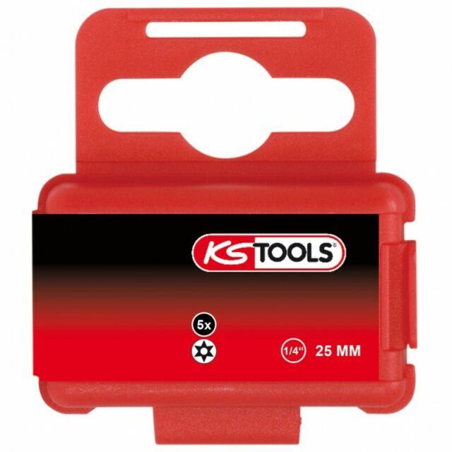 Ks Tools 911.2292 Caja de 5 Conectores para Atornillar Torx Perforado, L.25mm -