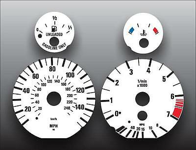 1996-2004 BMW E39 E38 E53 5 series Dash Cluster White Face Gauges