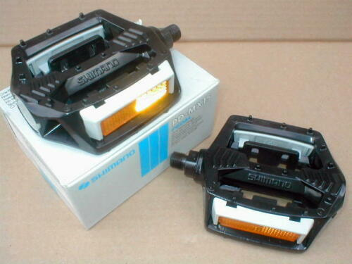 """NOS BMX SHIMANO SX PEDALS PD 15 MX BLACK 9//16/"""" AXLE BOXED EARLY 80/'s OLD SCHOOL"""