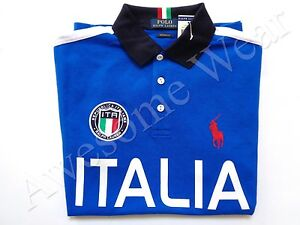 fabe5d93b New Ralph Lauren Polo Pony Custom Fit 100% Cotton Blue Italy Shirt ...