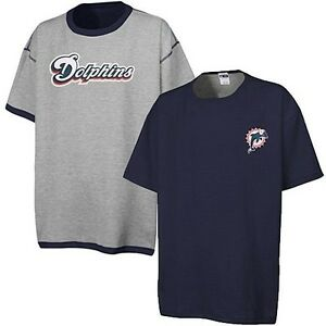 detailed look 5bf41 fa194 Details about Miami Dolphins NFL Licensed Reversible Mens Navy Blue/Gray  Shirt Big Sizes