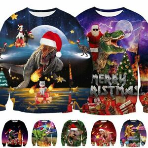 Funny-UGLY-Christmas-Sweater-Womens-Mens-Sweatshirt-Long-Sleeve-Pullover-Tops