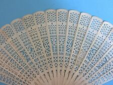EVENTAIL EPOQUE XIX ème SCULPTE ET AJOURE ANTIQUE CARVED CANTONESE CHINESE FAN