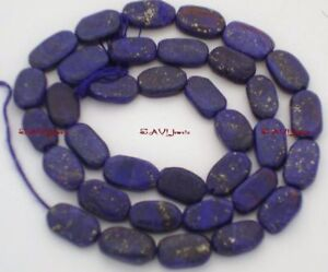 """Lapis 11-10mm long x 5-4mm wide Oval  Gemstone Beads 14.5""""strand"""