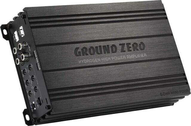 Ground Zero Gzha Mini Quatre 4 x 80 Watt RMS An 4 Ohm Super Petit Amplificateur