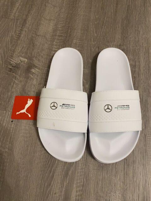 PUMA MERCEDES BENZ Petronas Leadcat White Slides Sandals Mens Size ...