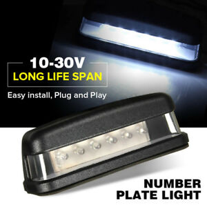 LED-LICENSE-NUMBER-PLATE-LIGHT-UTE-BOAT-TRUCK-TRAILER-CARAVAN-WATERPROOF-10-30V