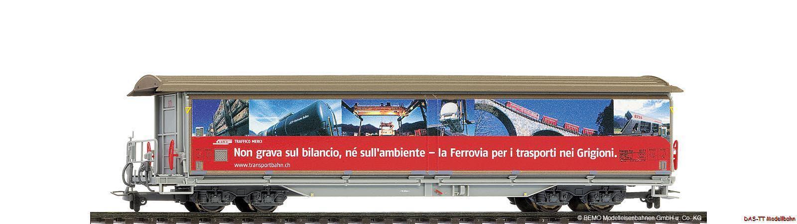 H0m RHB haiqqTYZ 5171 RHB trasporto ferroviario EP. V BEMO 2288141 NUOVO