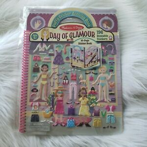 Melissa /& Doug Puffy Sticker Activity Book Day of Glamour 196 Reusable Stickers 9412