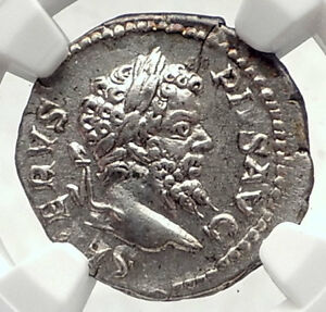 SEPTIMIUS-SEVERUS-Authentic-Ancient-205AD-Rome-Silver-Roman-Coin-NGC-i72639