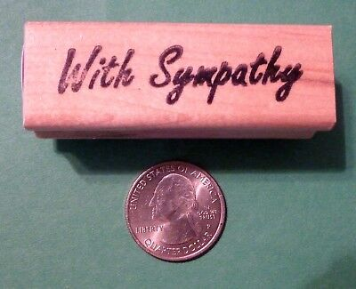 With Sympathy Rubber Stamp wood mounted