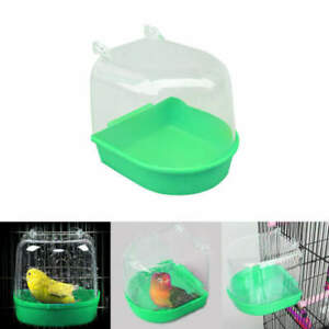 Details about 1x Bird Water Bath Tub For Pet Cage Hanging Bowl Parrots  Parakeet Birdbath New