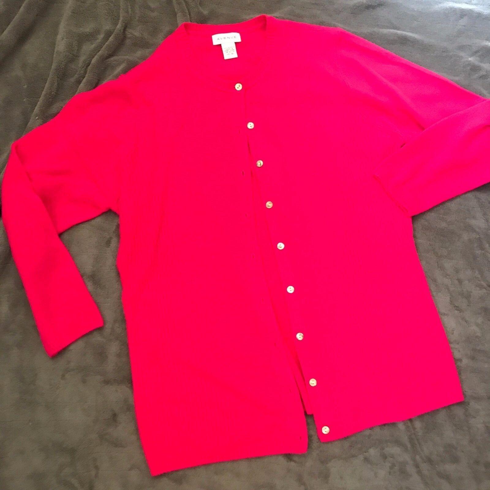 Avenue womens Size 14 16 pink cardigan