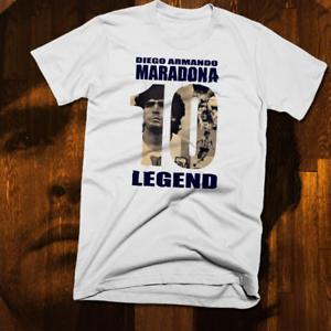 shengyang Diego Maradona T-Shirt 100/% Cotton Football Argentina Legend Boca Juniors